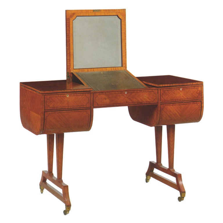 English Edwardian Dressing or Writing Table by Waring & Gillow For Sale
