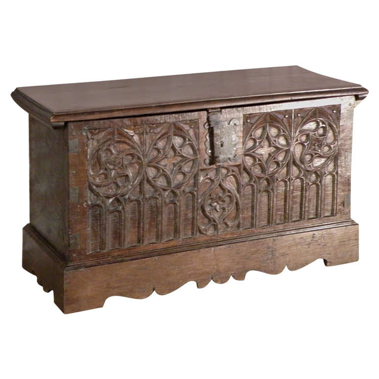 Gothic Coffer Chest At 1stdibs