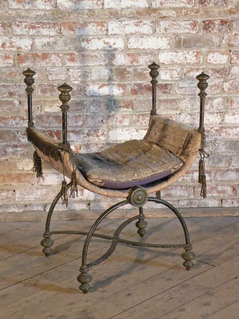 Iron And Brass Curule Chair For Sale At 1stdibs