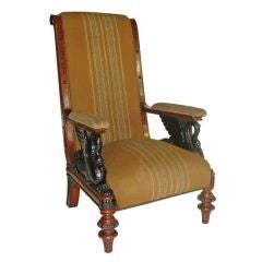 Austrian 19th century unusual Biedermeier Library Armchair