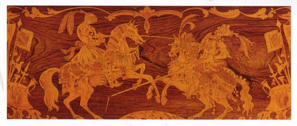 Austrian 19th century Neoclassical Marquetry Center Table