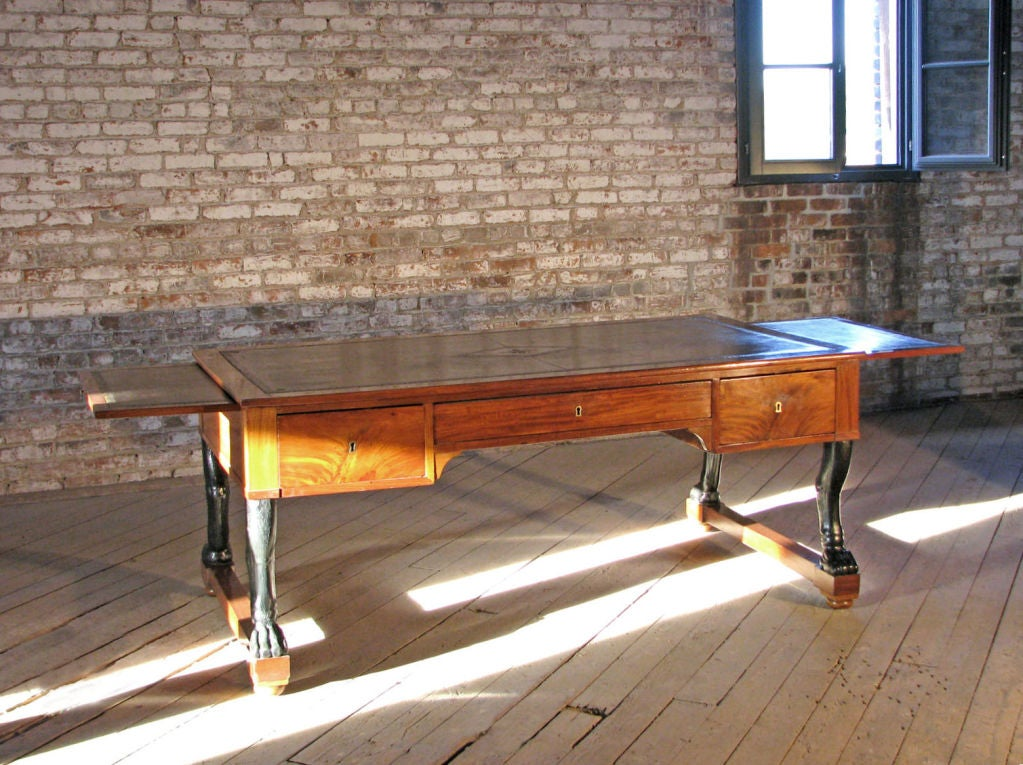 Early 19th century French Mahogany Empire Desk In Good Condition For Sale In Troy, NY