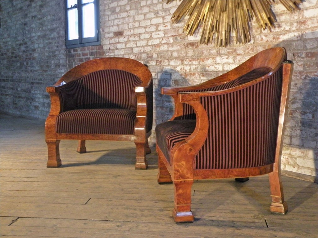 Superb pair of very comfortable, large bergeres of exquisite design and proportion.