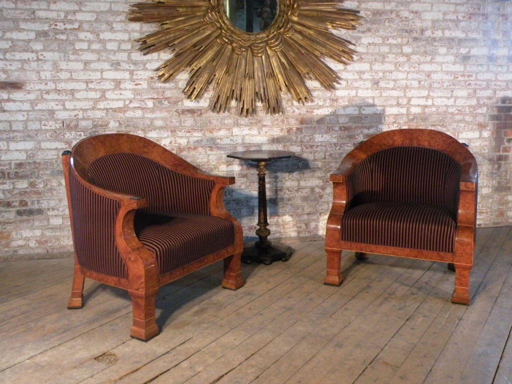 19th Century Pair of 19th century oversized Biedermeier Bergeres For Sale