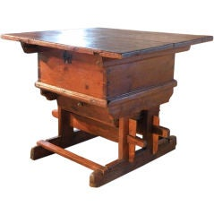 Early Rustic Swiss Pine Table