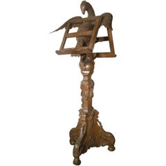 Early 18th century tall French Louis XV Carved Oak Eagle Lectern