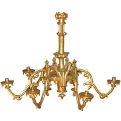 19th century Gothic revival Giltwood Chandelier
