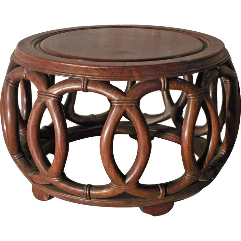 19th / 20th century Round Chinese Low Table