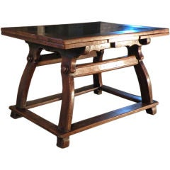 Stone Inlaid Center / Draw-leaf Table