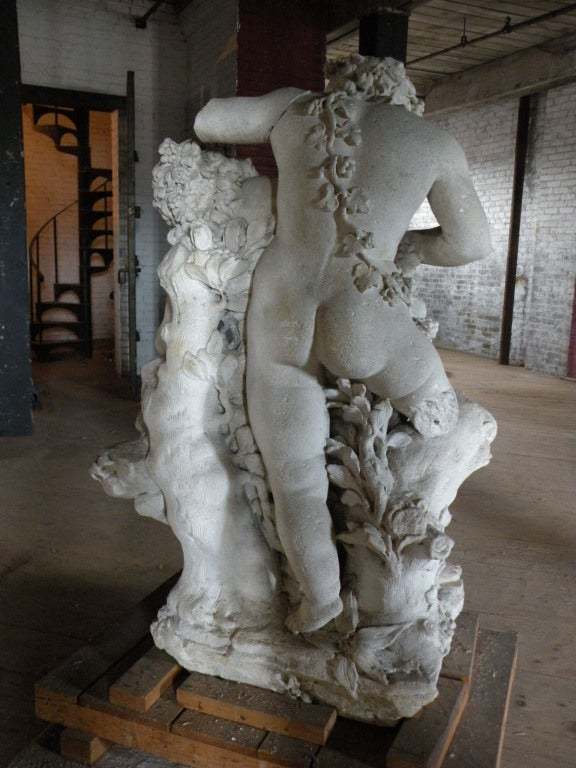 17th century Louis XIV Stone Sculpture of Playing Children In Good Condition For Sale In Troy, NY