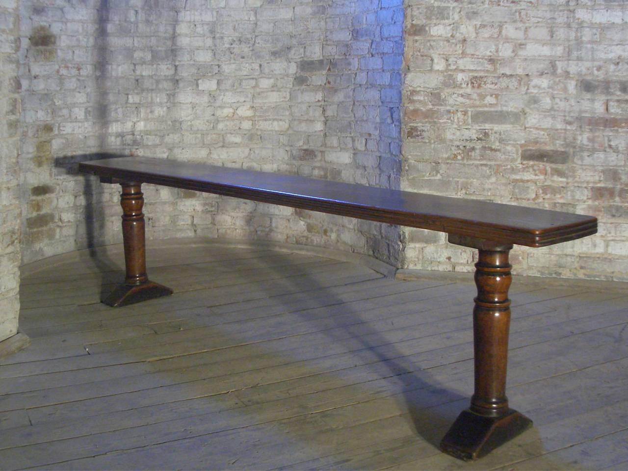 Baroque Pair of 17th century Italian baroque Walnut Benches For Sale