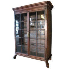 Dutch 18th century Baroque Vitrine or Bookcase