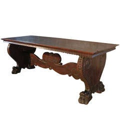 Italian 16th century Renaissance Walnut Trestle Table