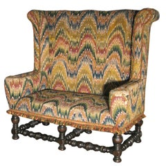 Italian 19th century Baroque Style Walnut Settee