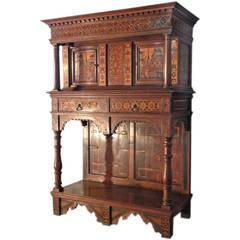 Alpine Baroque Inlaid Dressoir Cabinet