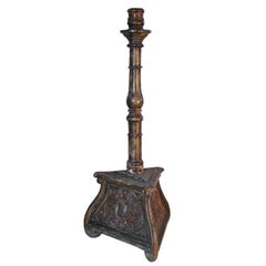 Italian 17th century Baroque Tall and Painted Torchère