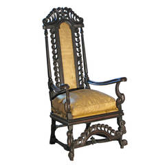 17th Century James II English Armchair