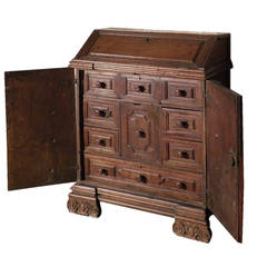 17th century Italian Baroque walnut Credenza or Desk