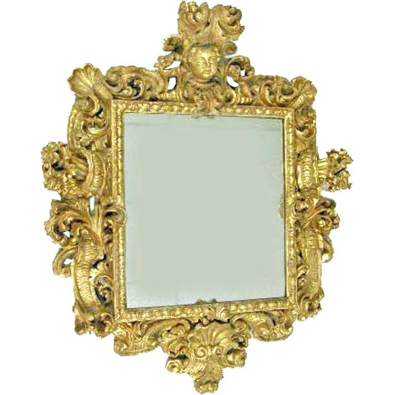 18th century italian baroque gilt mirror for sale at 1stdibs for Italian baroque mirror