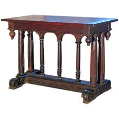 19th century Renaissance Style Walnut center Table