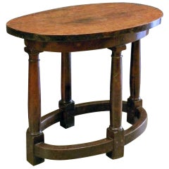 Early 17th Century Italian oval Walnut Center Table
