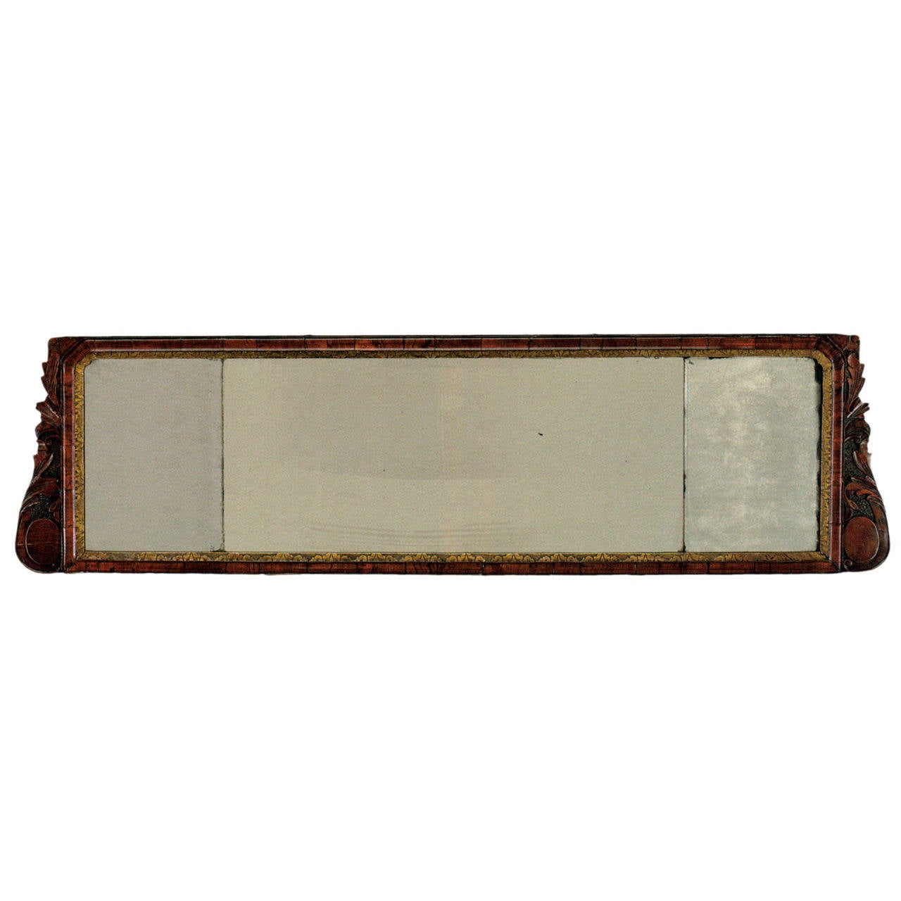 English early 18th century George I Overmantel Mirror