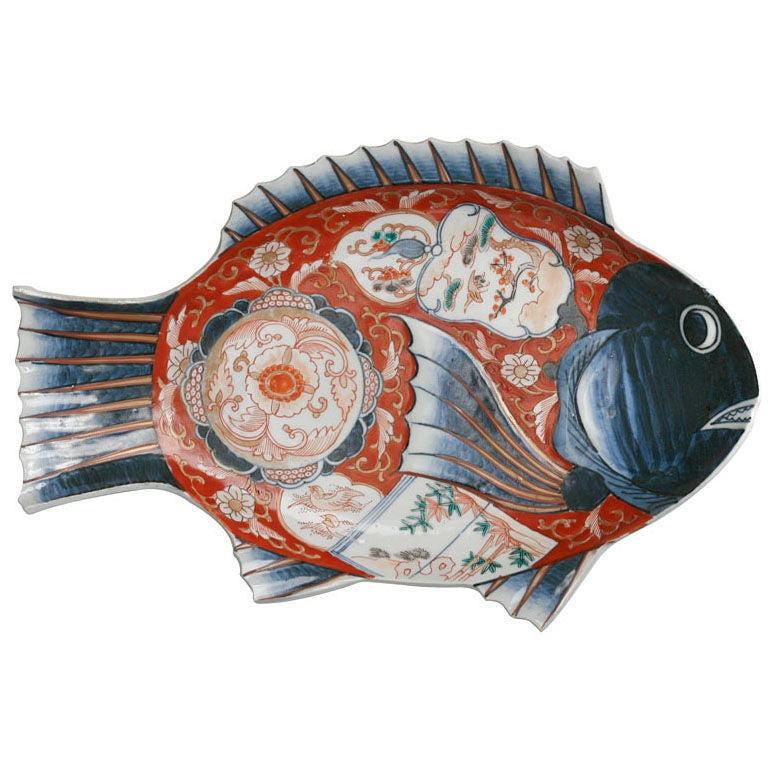 Japanese Imari Fish Platter At 1stdibs