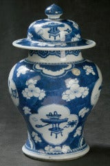 Chinese Blue And White Covered Temple Jar At 1stdibs