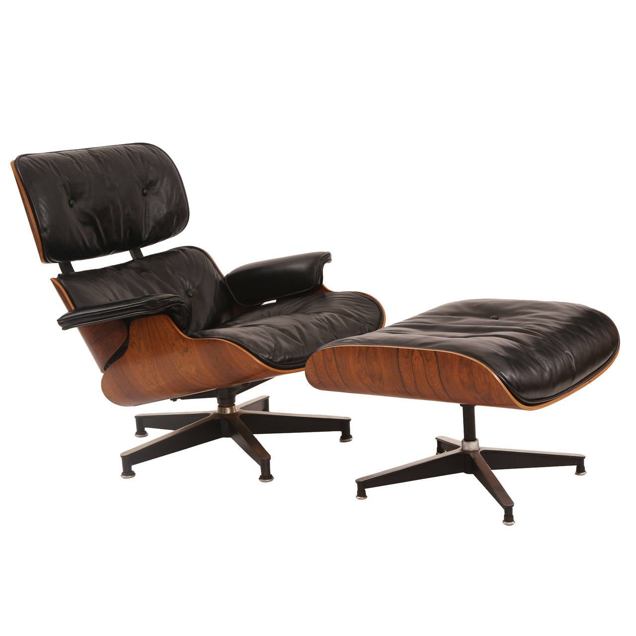 Eames for herman miller rosewood 670 chair and ottoman at - Herman miller lounge chair and ottoman ...