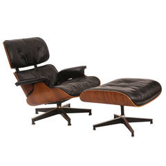 Eames for Herman Miller Rosewood 670 Chair and Ottoman