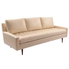 Early Milo Baughman Thayer Coggin Leather Sofa
