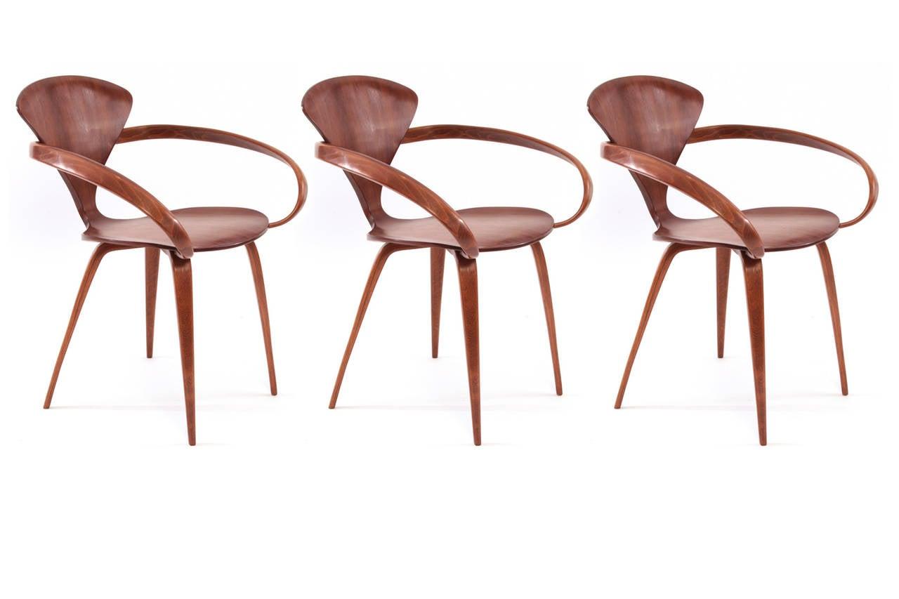 three original norman cherner for plycraft pretzel armchairs 2