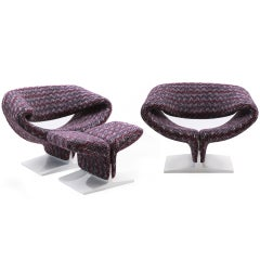 Pierre Paulin Ribbon Chairs in Missoni Fabric