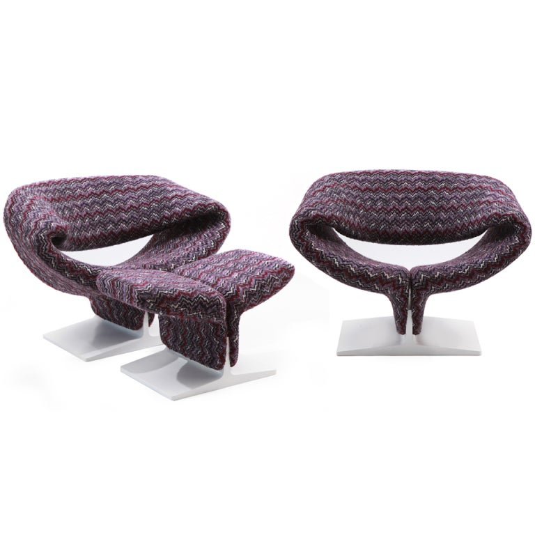Missoni Home Armchair Virgola Nador: Pierre Paulin Ribbon Chairs In Missoni Fabric At 1stdibs