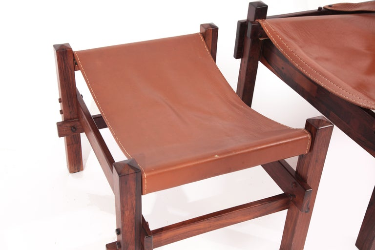 Rare Jorge Zalszupin Chair and Ottoman In Good Condition For Sale In Phoenix, AZ