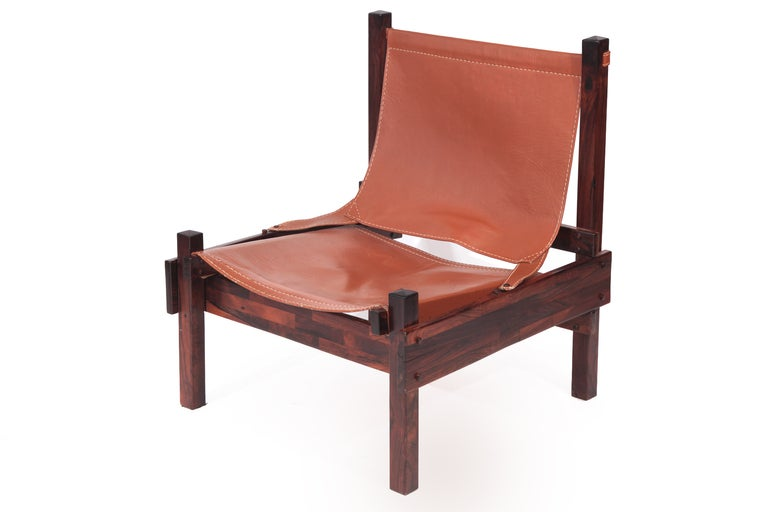Mid-20th Century Rare Jorge Zalszupin Chair and Ottoman For Sale