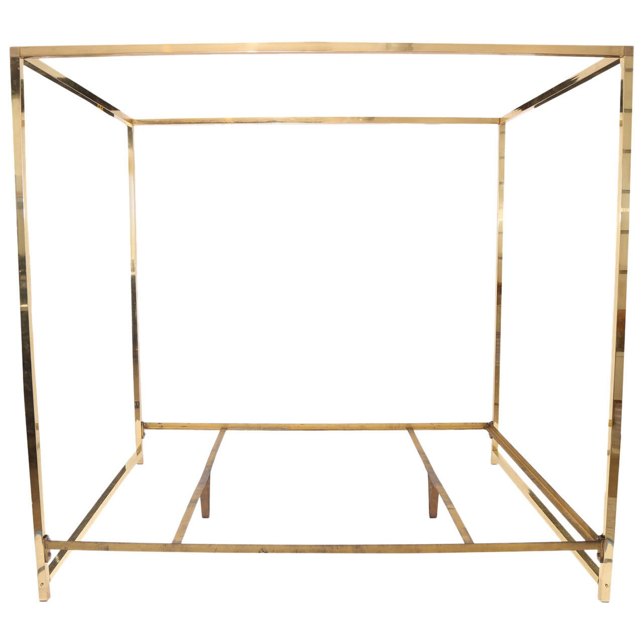 Fabulous Brass King Canopy Bed 1 - Fabulous Brass King Canopy Bed At 1stdibs