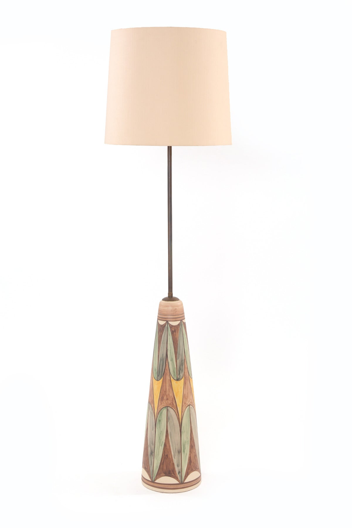 Rare Ceramic And Brass Floor Lamp By Soholm At 1stdibs