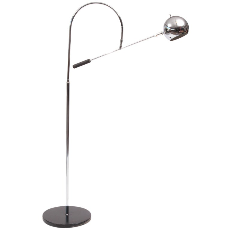 Robert Sonneman Swing Arm Chrome Floor Lamp at 1stdibs