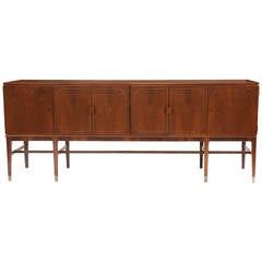 Rare Rosewood Pewter and Copper Credenza by Georg Kofoed
