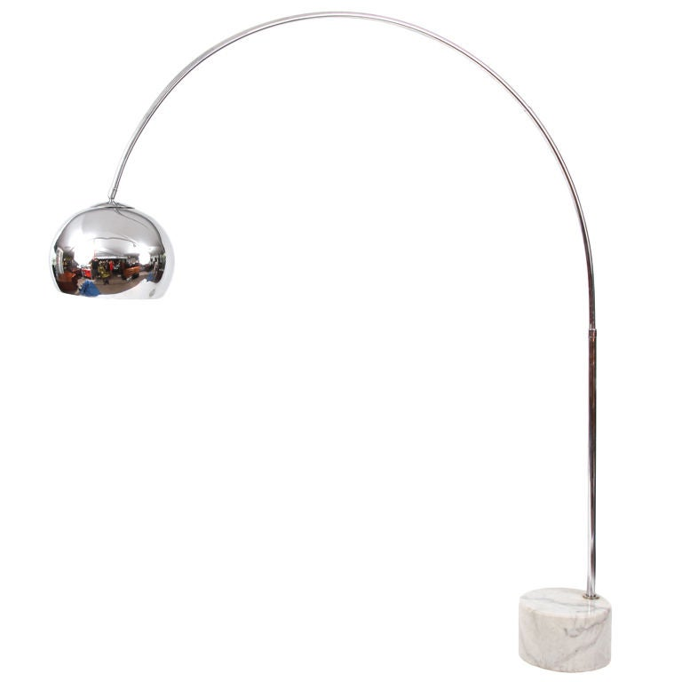 this chrome carrera marble arc floor lamp is no longer available. Black Bedroom Furniture Sets. Home Design Ideas