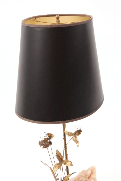 quartz brass and ebonized wood table lamp for sale at 1stdibs. Black Bedroom Furniture Sets. Home Design Ideas
