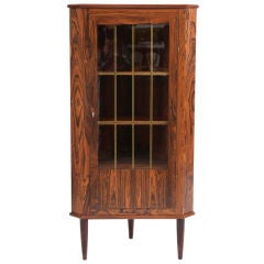 Stunning Rosewood and Glass Corner Cabinet