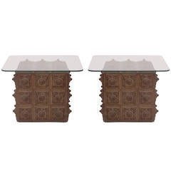 Pair of Highly Decorative Bronze Tables
