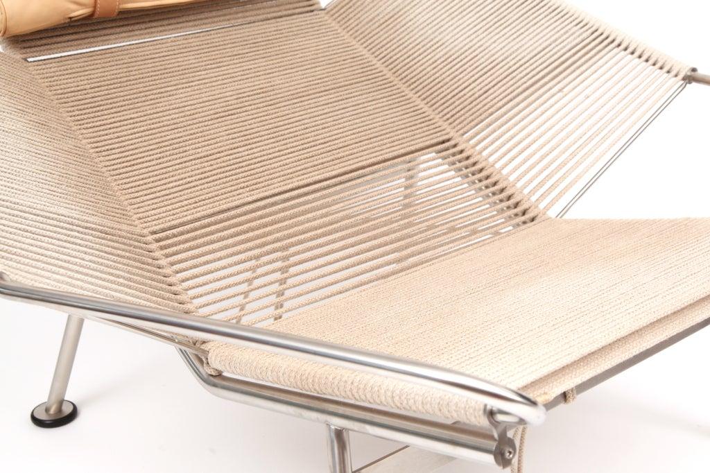 Stainless Steel Hans Wegner Flag Halyard Lounge Chair