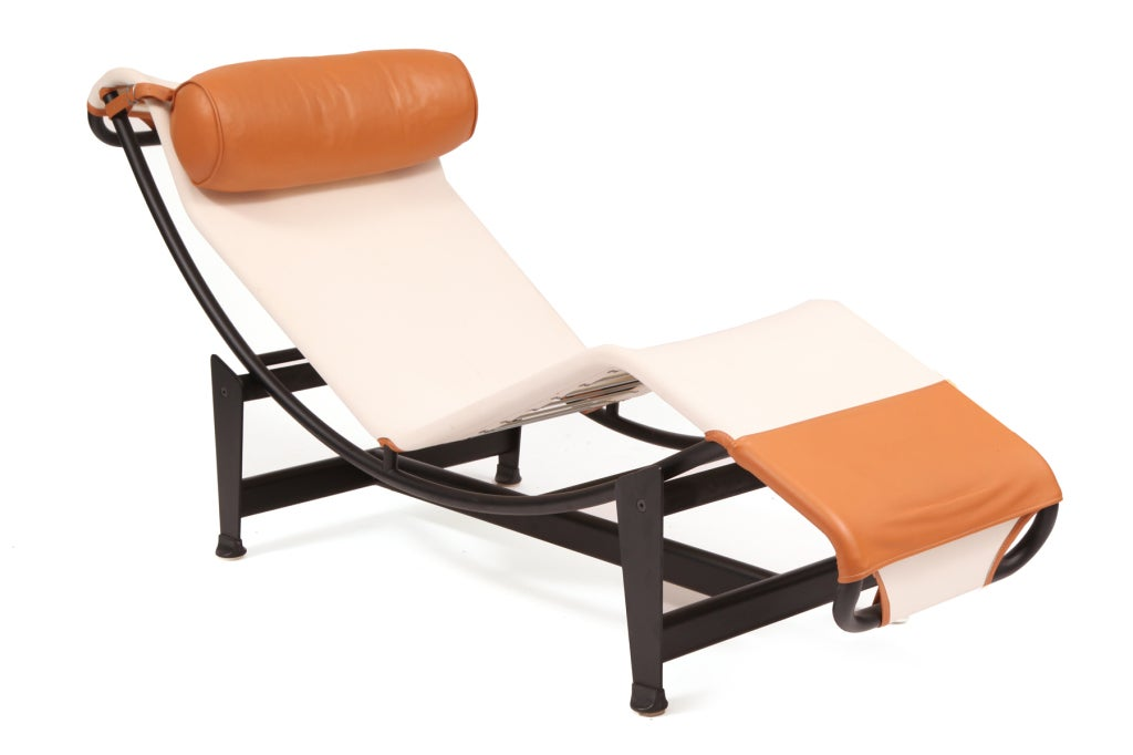 Le corbusier lc4 chaise longues at 1stdibs for Chaise le corbusier lc4