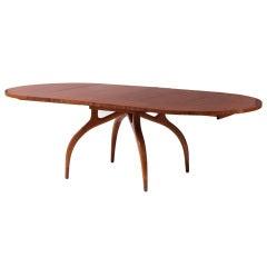 Carpathian Elm Dining Table by Harold Schwartz for Romweber