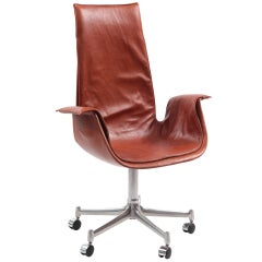Fabricius & Kastholm Leather Bird Chair