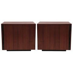 Pair of John Kapel for Glenn Walnut Nightstands