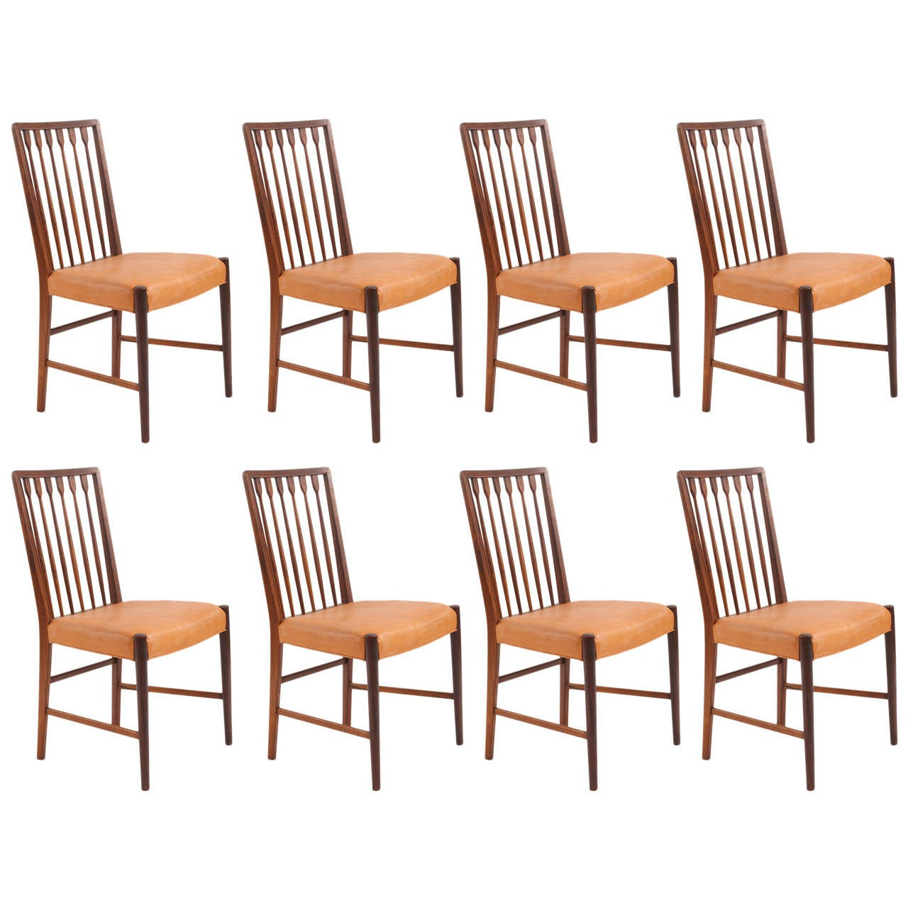 Rare Set Of Eight Rosewood Dining Chairs By Georg Kofoed At 1stdibs